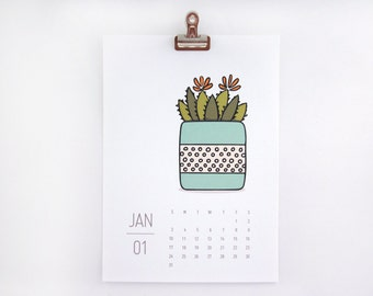 2018 Calendar - Pretty Pots