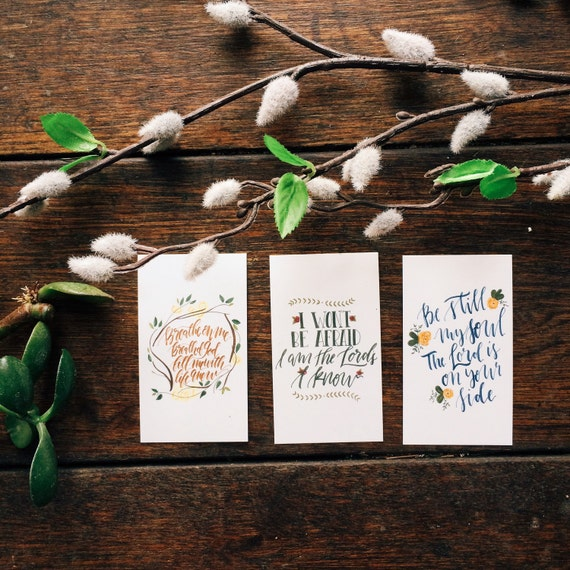Mini scripture cards featuring classic hymns, easter gift, set of 9, encouragement cards, bible verse worship art, pass it on