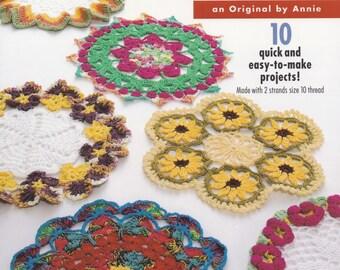 Dazzling Dishcloths, Annie's Attic Kitchen Home Decor Crochet Pattern Booklet 878521, 10 Easy Designs