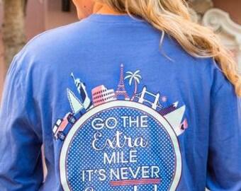 Jadelynn Brooke Shirt-Go The Extra Mile-Travel Shirt-Tailgate Shirt-Jadelynn Brooke Fall-Preppy Long Sleeve Shirt-Jadelynn Brooke