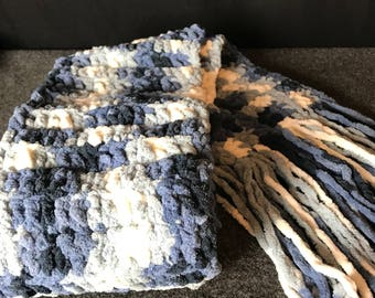 Blue Thick Winter Scarf