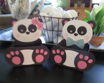 Panda Bear Belly Boxes  Set of 12 with Free Shipping