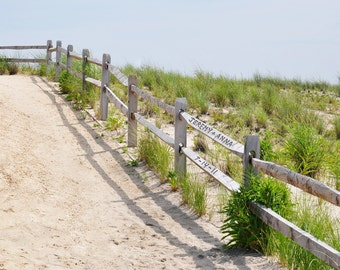 Personalized Beach Fence Photo, Beach Wedding Gift, Custom Name Art, Romantic Gift for Wife, Girlfriend Gifts, Boyfriend Gifts