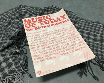 B flat Sheet Music Vintage Music of Today 1977