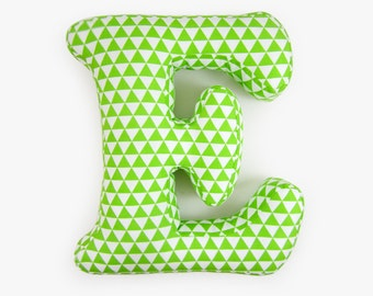 Alphabet Pillow Letter E, Alphabet Pillows, Initials Letter Pillow, Letters Cushions, Write your name with pillow!