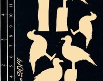 Dusty Attic, DA1042, Seagulls , Scrapbooking, Chipboard, Card Making, Mixed Media, DYI crafts