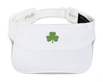 Irish Green Shamrock Visor  -  St. Patricks Day Hat