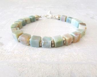 Amazonite Bracelet- Gemstones Bracelet - Beaded Bracelets - Boho Bracelet - Boho Jewelry - Gifts for Her