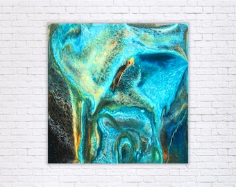 Erosion - Mixed Media and Resin Painting