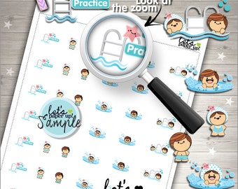 60%OFF - Swimming Stickers, Printable Planner Stickers, Swim Practice, Pool, Kawaii Stickers, Printable Stickers, Planner Accessories
