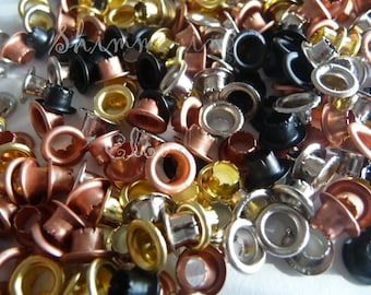 Copper Rivets, 8 mm Rivets, 8 mm Grommets, Copper Grommets, Black Rivets, Black Grommets, Brass Rivets, Brass Grommets, Gold Rivets, Gold