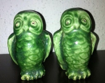 Adorable Vintage Owl Salt and Pepper Shakers