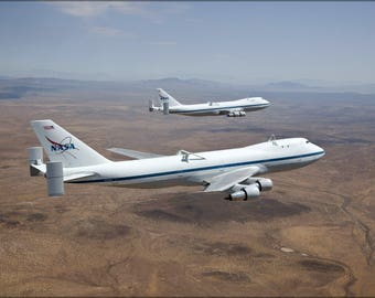 Poster, Many Sizes Available; Nasa Modified Boeing 747 Space Shuttle Carriers 905 And 911