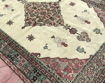 Interior Design Rug,Vintage Rug,Faded Colors Furnishings Rug,Bohomian Rug,Oushak Rug,Beige Colors Rug,Turkish Rug,Area Rugs ,5'6''x8'1'' ft