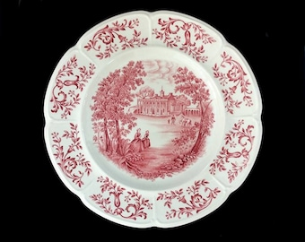 George Washington's Mount Vernon Collector's Plate, Vintage Johnson Brothers Windsor Ware China with Hand Engraved Image