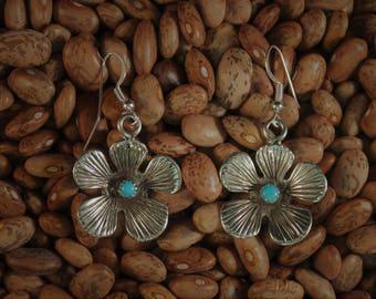 Brilliant Sandcast Flower Earrings
