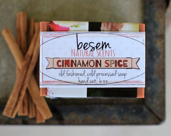 Palm Free Soap // cinnamon spice, cold process soap, artisan, natural, essential oil, kitchen soap