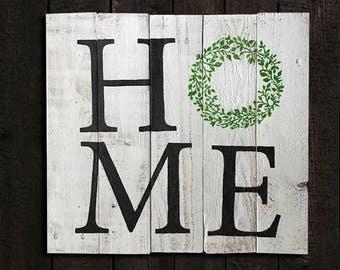 Hand-painted wooden pallet sign, Home sweet home