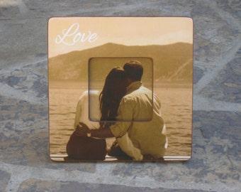"Unique Engagement Gift, Personalized Engagement, Custom Wedding Picture Frame, Wedding Gift, Valentine's Day, Boyfriend Gift, 8"" x 8"""