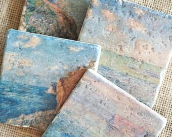 Ocean Decor- Beach Coasters, Ocean Gift, Beach Decor, Beach Gift, Sea Decor, Sea Gift, Beach House Decor, Beach Home Decor, Beach Home Gift