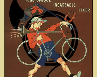 Cycles Monotube Bicycle Poster (#0905) 6 sizes