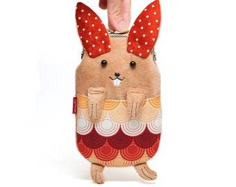Dancing Bunny Smartphone Kosmetikbeutel sleeve