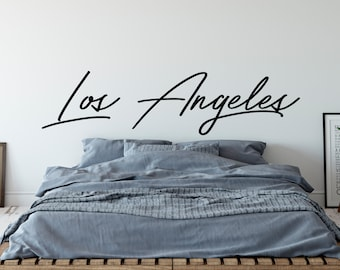 Los Angeles Wall Sticker, Customizable Vinyl Decal, Car Window Decal, California, L.A., Hollywood, SoCal, City of Angeles - Action
