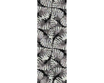 Abstract 9 Peyote Bead Pattern, Bracelet Cuff Pattern, Bookmark, Seed Beading Pattern Miyuki Delica Size 11 Beads - PDF Instant Download
