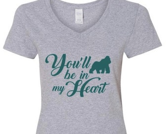 LADIES CUT You'll Be in My Heart - Song Lyrics Collection - VNeck T