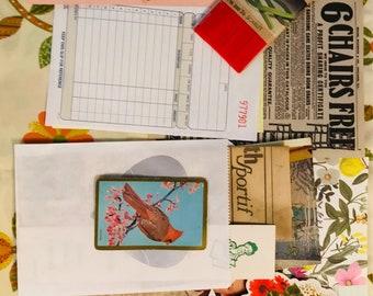 25 pc Junk Journal Ephemera Pack Vintage Book Paper Crafting