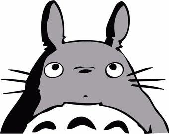 "My Neighbor Totoro -- Studio Ghibli Anime Decal Sticker for Car/Truck/Laptop 3.7"" x 4.6"""