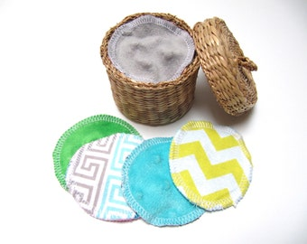 Reusable Facial Rounds, ADULT Minky Flannel Prints Cosmetic Rounds, Makeup Remover Pads, Facial Pads, Add On WASH BAG, Set of 10 or 20
