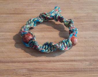 Tye Dye Spiral Hemp Bracelet