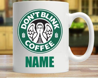 Personalised Don't Blink Weeping Angel Coffee Mug