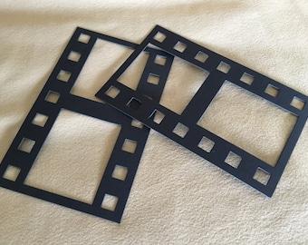 Black DIY Film Strip XL Frames-Blank Chipboard Filmstrip Shapes for Decorating-Scrapbook Embellishments-Photo Booth Fun-Film Photo Frames