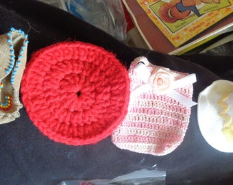 doll size moccasins hats and assorted stuff