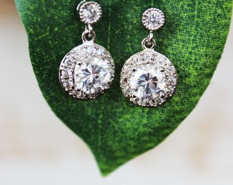 Simple Crystal Post Wedding Earrings, Crystal Post Bridal Earrings, Bridesmaids Earrings, Bridal Accessories, Mother of the Bride