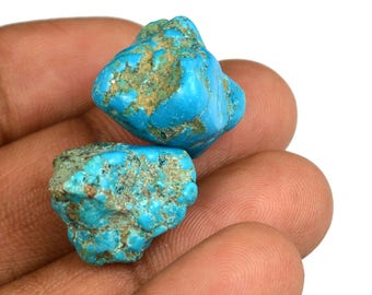 46.70 Ct Natural Arizona Mine Kingman Turquoise Gemstone Rough Pair Best Deal