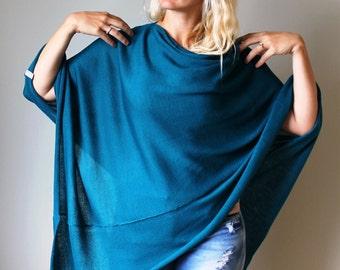 Turquoise Women Poncho merino wool Cape women's Coat Bordeaux merino Turquoise Wool Poncho Feminine exclusive hippie style