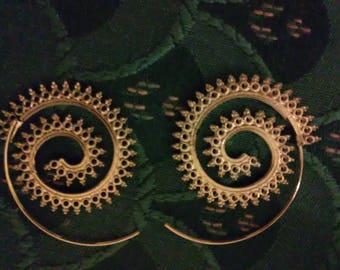 Ornate Spiral Earrings