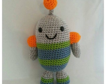 Hand Made Crochet Robot Plushie Doll