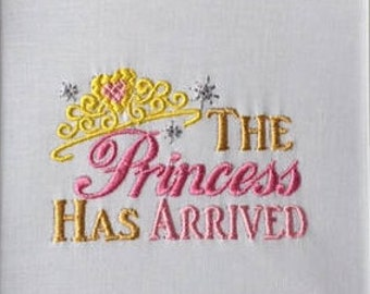 New Baby Girl Gift, Newborn Gift for Baby Girl, Baby Shower Gift, Baby Girl Coming Home Outfit, Baby Girl Princess Shirt, Embroidered