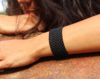 Macrame bracelet, handmade jewelry, micro macrame, friendship bracelet