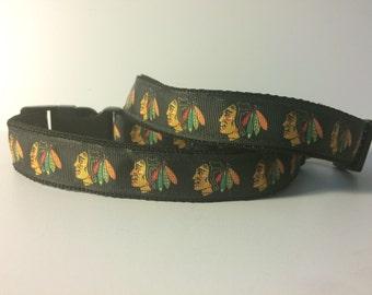 DOG COLLAR!! Chicago Blackhawks Dog collar