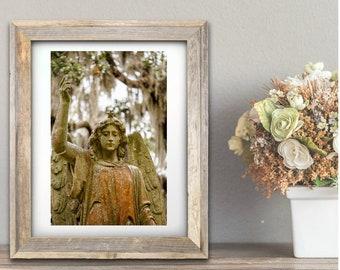 Cemetery photography, Angel statue, Savannah, Georgia, Victorian wall art