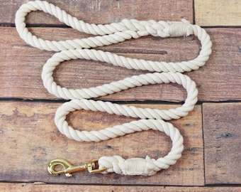 Plain Cotton Rope Dog Leash, Natural Soft Cotton Leash, Great Idea For Dyeing Yourself, Puppy Birthday Party Gift Ideas, Puppy Pet Leash