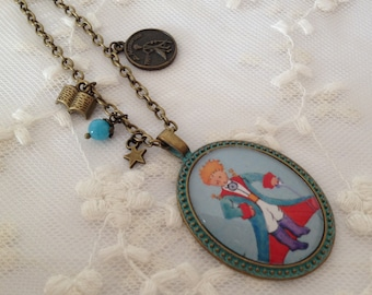 Necklace cameo the little Prince.