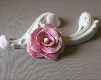 Pink flower cold porcelain