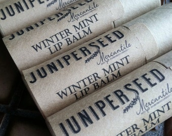 Winter Mint Lip Balm - 0.33 ounce Compostable Plastic Free Cardboard Packaging - Sweetened With Stevia