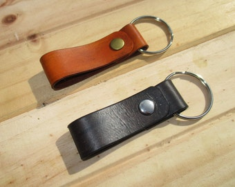 Personalized Leather Belt Loop  Key ring  Gifts. Key Holder, Key Hook, key fob. handmade